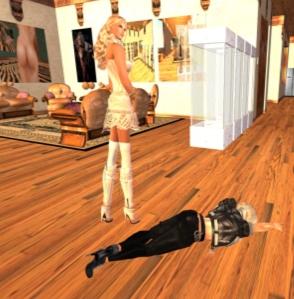 20121229 Dio unconsicous at Kim's feet