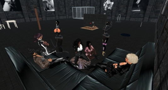 Enjoying a night in our new dungeon