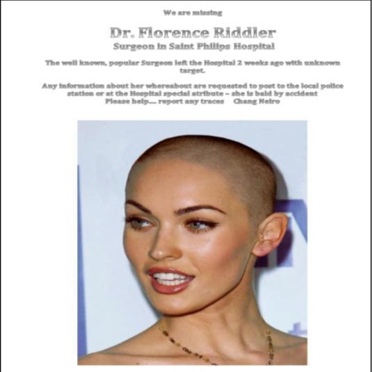 20130915 Wanted surgeon Florence Riddler