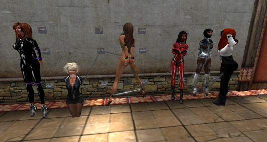from left: Rille MacMoragh, Angelique, Nirvana Elan, Daeneriis, Dr. Flo, Argi