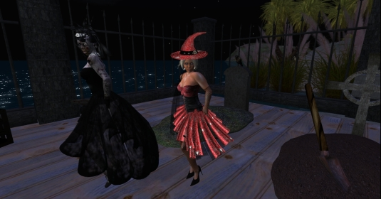 Zombie Jenny and Diomita the witch