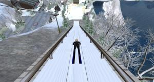 Diomita ski jumping in Chamonix