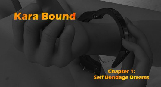 Kara Bound - a comic bdsm story beginning with self bondage