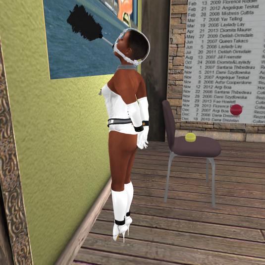maid slave flo at work