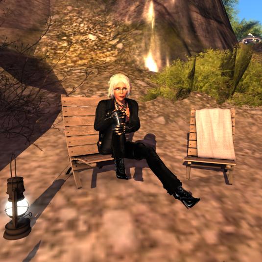 "Diomita enjoying a lazy Sunday morning at ""Dawn of Radiance"""