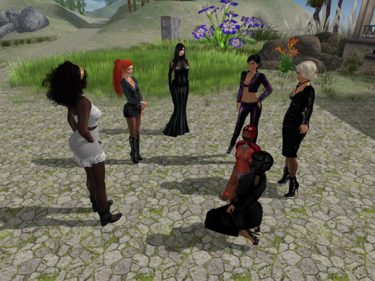 Gathering (from left to right) Argi, Angelique (yes with the red pony tail), Mii Oh, Jenny, slave, rona, Diomita