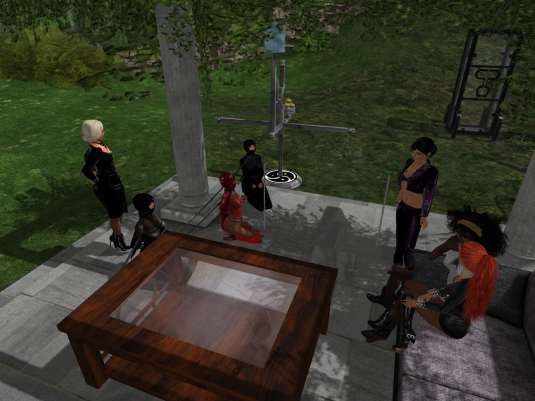 Enjoying bondage August 2014 (from left to right) Diomits, Mii, slave, rona, Jenny, Argi and Angelique