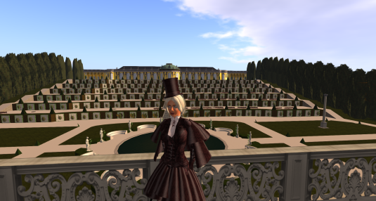 Diomita overlooking the terrace at Sanssouci Park (SL)
