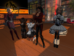 Maurer's at DaD: Dio, slaves Flo and nuba, Jenny and Angelique