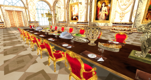 Dining hall at Angel Manor