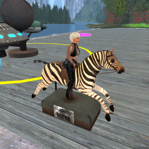 No pony around? Ride a Zebra!