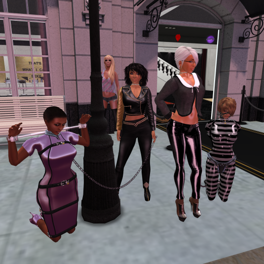 slave Flo, Jenny, Diomita and Sklavin Gebby at Persian Lesbian Palace