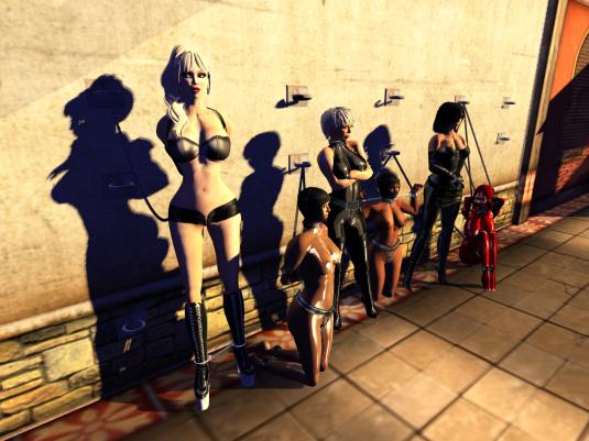A short Sunday night Event: Mii, sklavin, Dio, slave Flo, Jenny and Gero enjoying bondage (surrealistic July light)