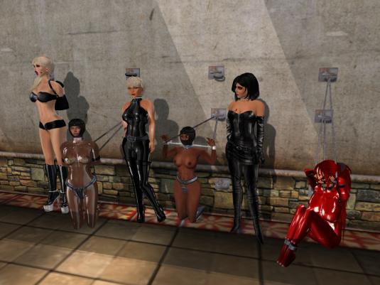 A short Sunday night Event: Mii, sklavin, Dio, slave Flo, Jenny and Gero enjoying bondage