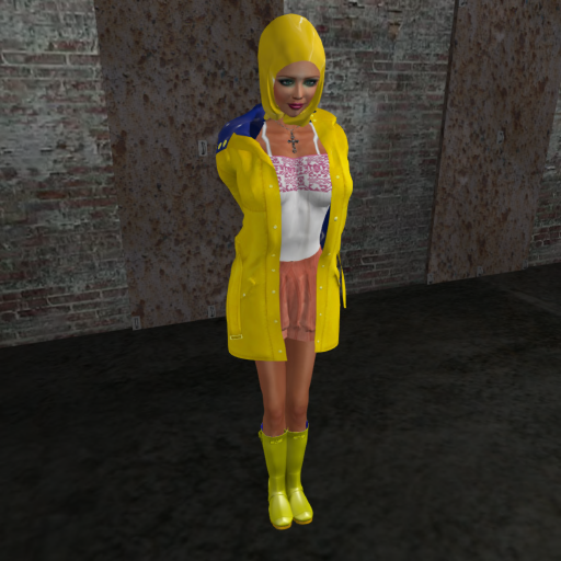 3HIJAB humiliation suit, hood Balloon, Shorts rubber Yellow