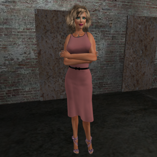 Tank Dress with Bow Belt (pink)