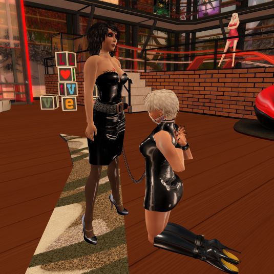Dio at her place at Mistress Jenny's feet
