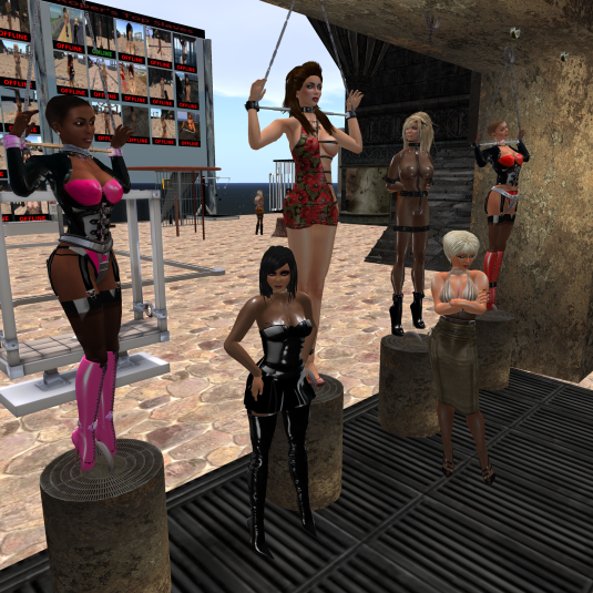 Enjoying bondage September 2015: slave Flo, Jenny, Cecy, Zephaney, Dio and sklavin at Roper's playground