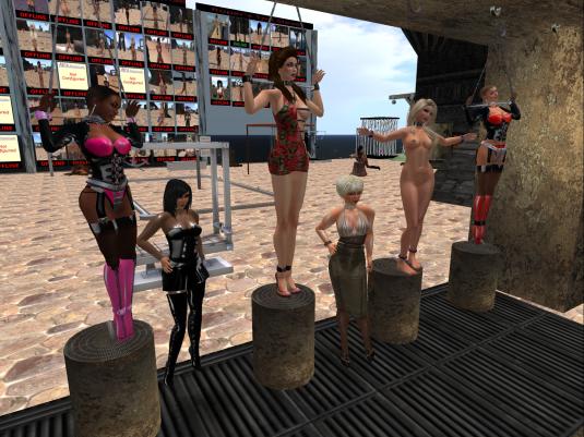 Enjoying bondage September 2015: slave Flo, Jenny, Cecy, DIo, Ashley and sklavin at Roper's playground