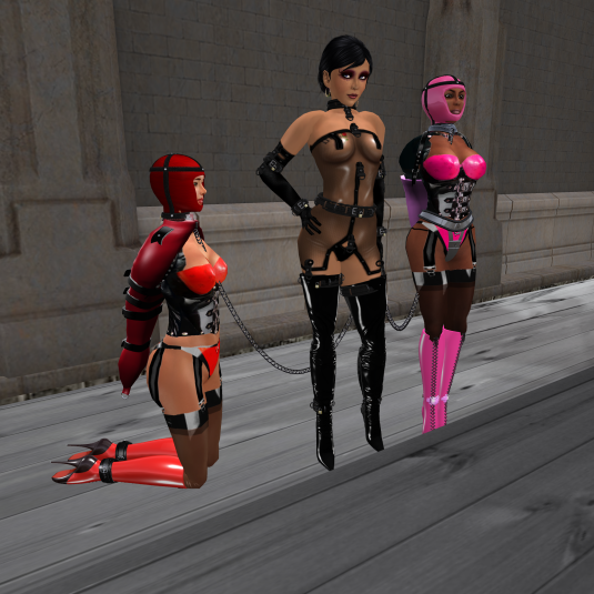 Janny and slave Flo and sklavin at Mesmerize Dungeon