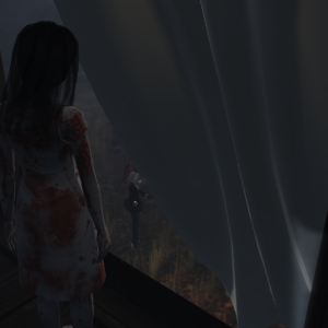 Ironwood Hills (3) - the girl with the skirt full of blood stains secretly watching us
