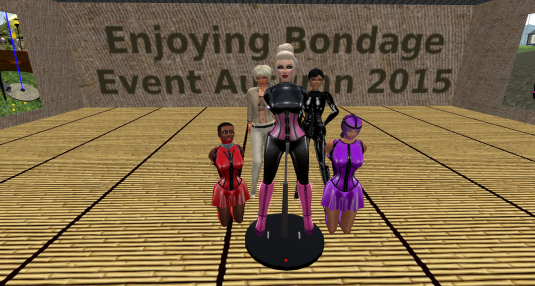 Oct, 8th: Mii surrounded by slave Flo and sklavin Gebby with Diomita and Jenny