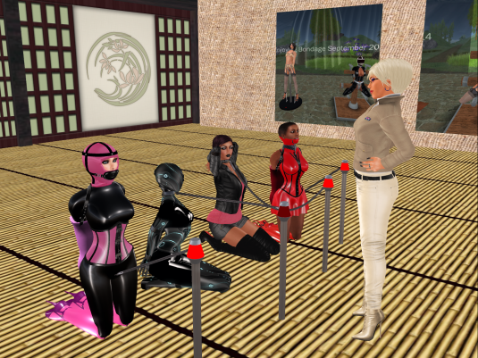 Oct 11th - Dio inspecting her hard work at Mii, Nina, vero and slave Flo
