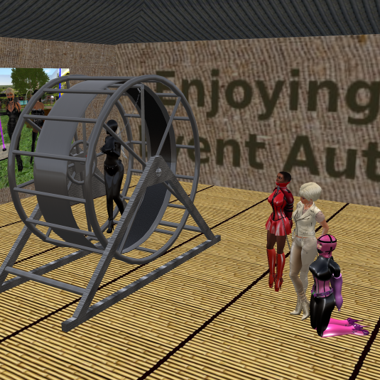 Oct, 15th: Danii in the mouswheel - Dio watching with slave Flo and sklavin