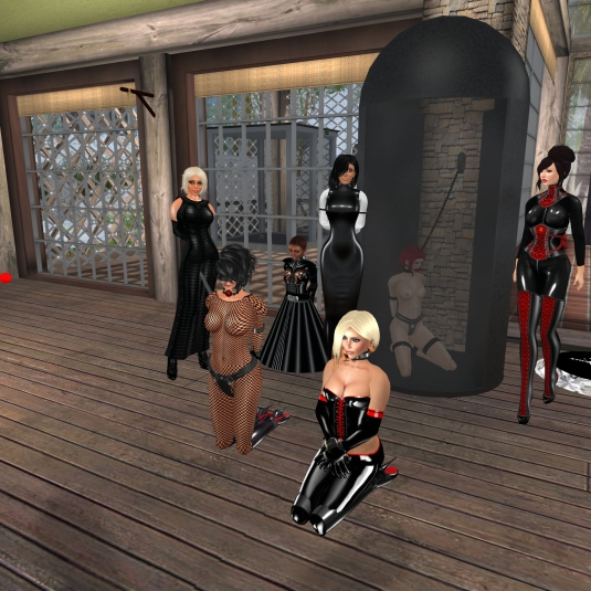 Diomita, sklavin Gebby, slave Flo, Jenny, Kitty, Nina and Dharma Ying (a friend of Kitty)