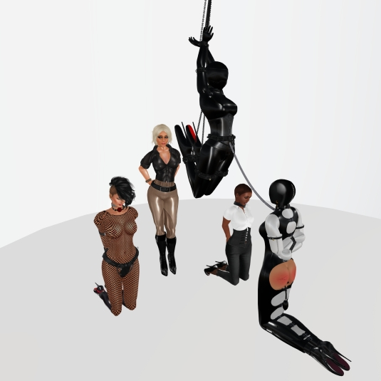 Enjoying bondage in December: sklavin, Diomita, slave LL, slave Flo and Ehesklavin Jenny