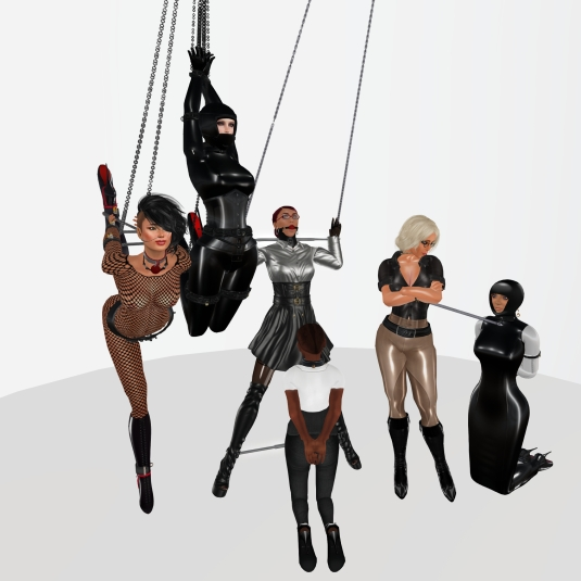 Enjoying bondage in December (4): Sklavin, slave LL, slave BW, slave Flo, Diomita and Ehesklavin