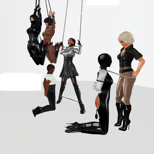 Enjoying bondage in December (5): slave LL, Sklavin, slave Flo, slave BW, Ehesklavin and Diomita