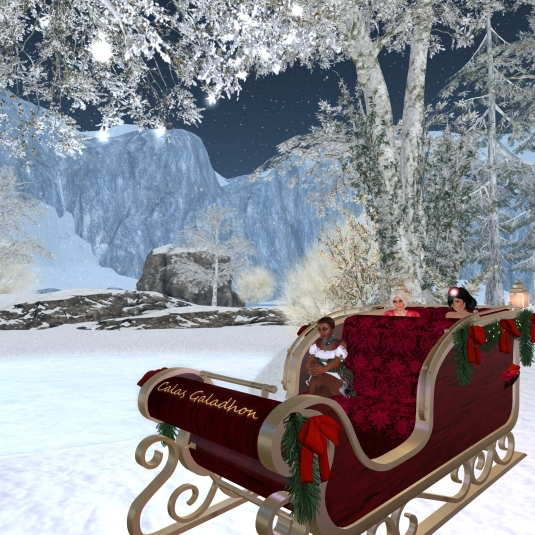 Calas Galadhon White Cristmas 2015 - the sleigh tour (1)