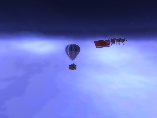 Calas Galadhon White Cristmas 2015 - the balloon ride (5): caution Santa crossing