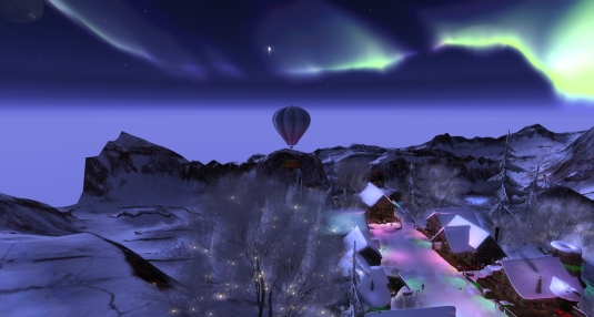 Calas Galadhon White Cristmas 2015 - the balloon ride (6): aurora borealis