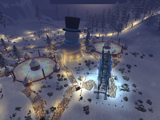 Linden's Winter Wonderland - the view from the Ferris wheel