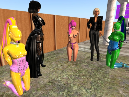 Jan 19th: slave Flo, Jenny, Mii, Diomita and sklavin Gebby at HBC