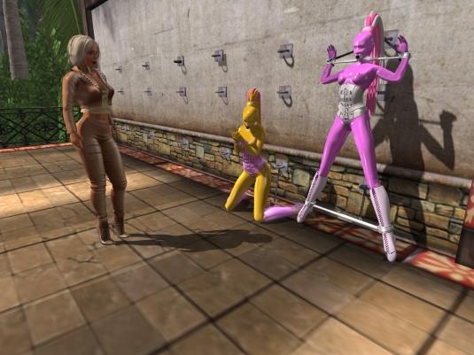 Enjoying bondage January 2016 (II) part 1: Diomita Begins teasing slave Flo with slave Nina
