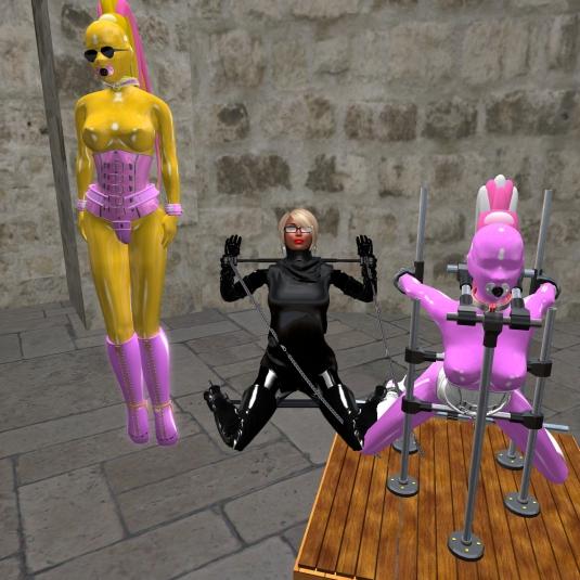 Jan 31st: slave Flo, Juicy and slave Nina at Nico's