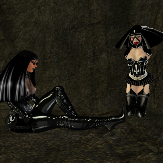 Feb 9th: Abbess Diomita and slave nun Nina trapped_at Amelie's garden