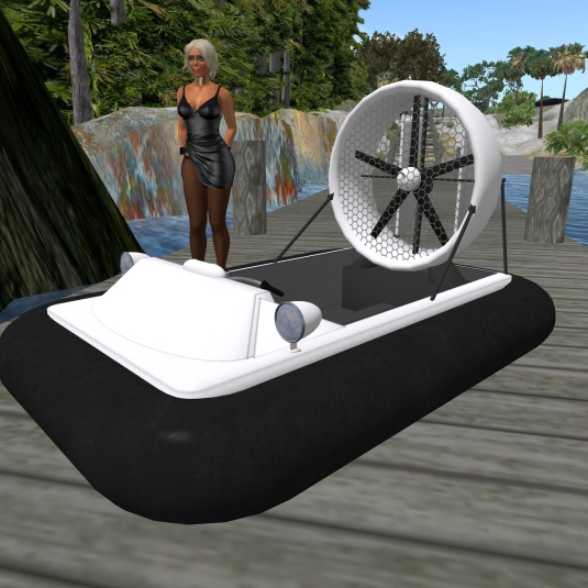 Feb 11th: Diomita and her new hovercraft