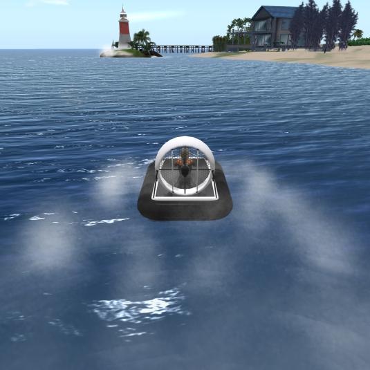 Ffeb 11th Speeding with my hovercraft
