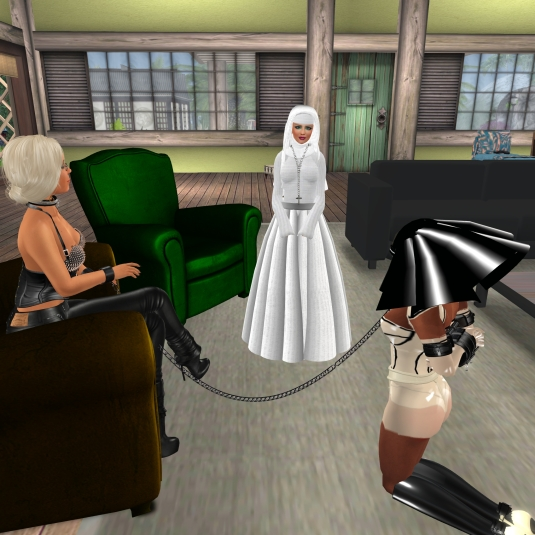 Feb 13th: Celebrating slave Flo's 7the rezzday - Angelique becoming a sister nun of Flo