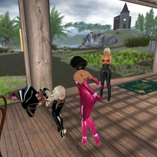 Feb 14th: slave Flo's last rezzday spanks delivered by Jenny