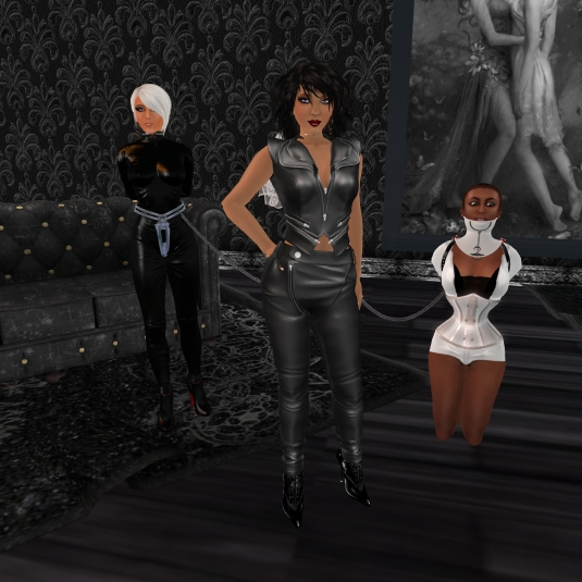 March 13th: Mistress Jenny with Diomita and slave Flo at TSH