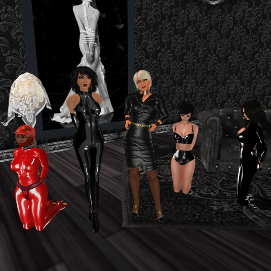 March 31st: At the secret house - slave Flo, Jenny, Dio, Poison and Adarra