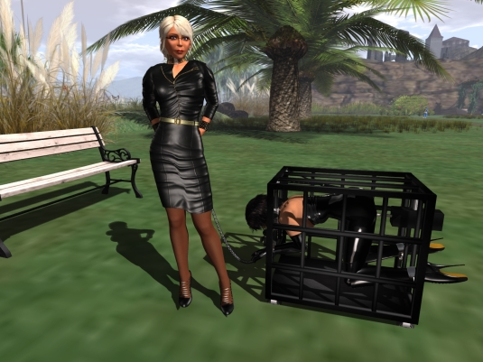 March 31: Mistress Dio and Jenny in her mobile home