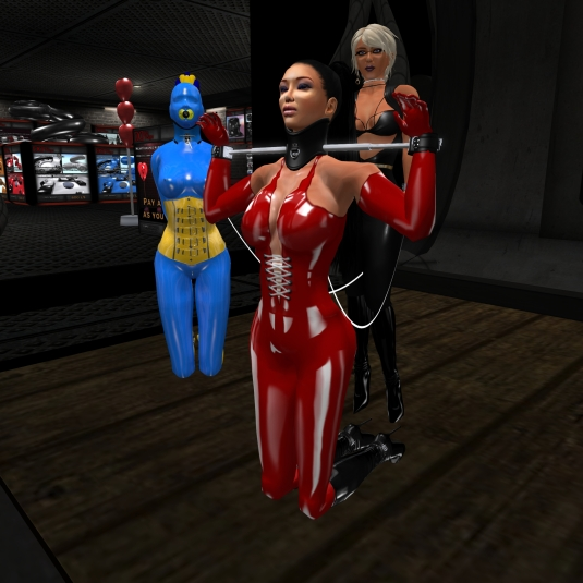 April 19th: Diomita with Adarra and slave cecy at Mesmerize Dungeon