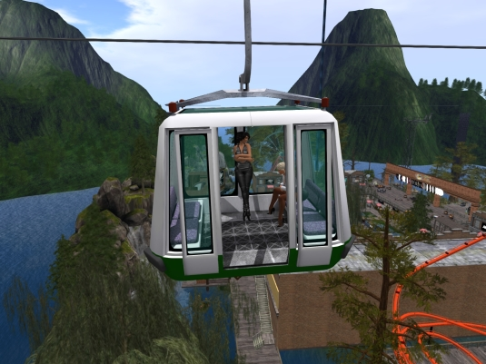 April 23rd: Mistress Jenny and I at the River Rock club at Stonehaven taking the cable car to get an overview