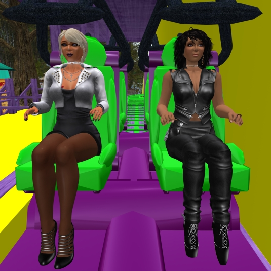 April 23rd: Mistress Jenny and I riding the rollercoaster at the river rock club, Stonehaven (1)